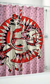 Carousel Horse Shower Curtain by Sourpuss Clothing - InkedShop - 1