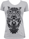 "Women's ""Night Watch"" V Neck Tee by Black Market Art (Heather Grey) - www.inkedshop.com"