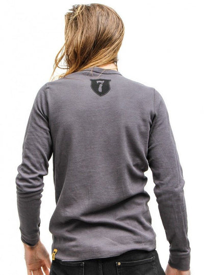 "Men's ""Custom Motors"" Thermal by 7th Revolution (Grey) - www.inkedshop.com"