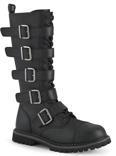Unisex Riot 18BK Boot by Demonia