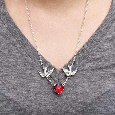 """Swallow Heart"" Necklace by Alchemy of England - InkedShop - 2"