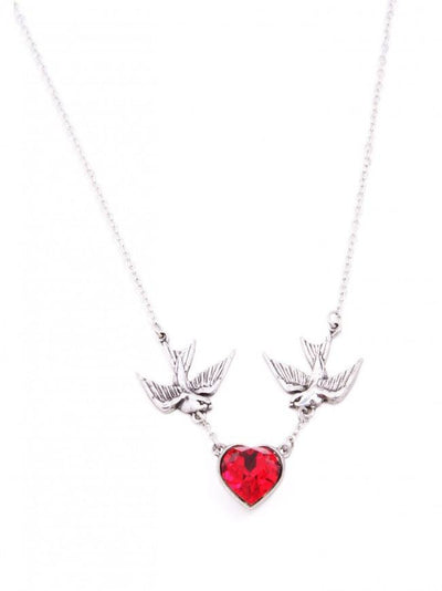 """Swallow Heart"" Necklace by Alchemy of England - InkedShop - 1"