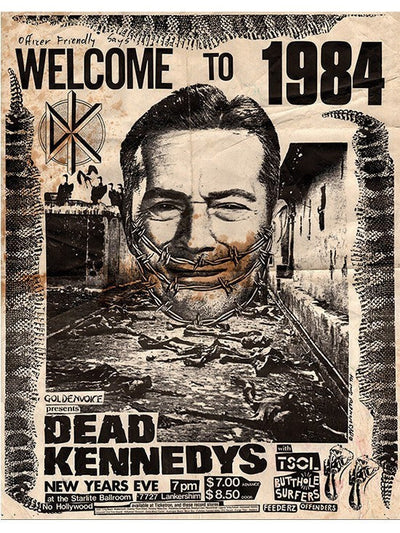 """Welcome to 1984"" Print by Annex Art - www.inkedshop.com"