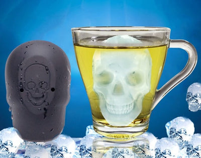 3D Single Skull Silicone Ice Cube Mold