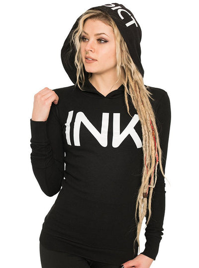"Women's ""Ink"" Thermal Hoodie by InkAddict (More Options) - www.inkedshop.com"