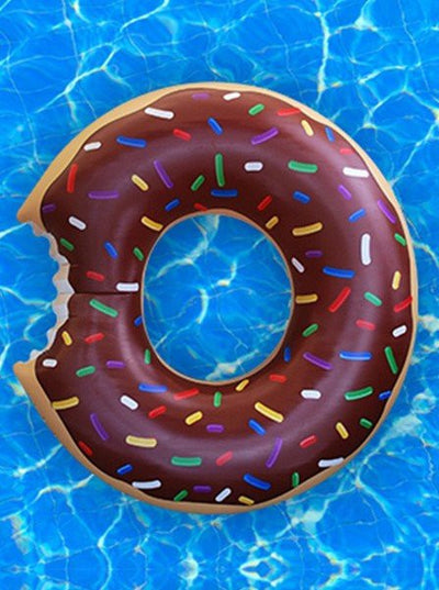 """Chocolate Donut"" Gigantic Pool Float (Brown) - www.inkedshop.com"