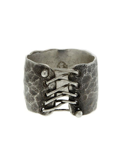 """Black Corset"" Ring by Spragwerks (Oxidized Sterling Silver) - InkedShop - 1"
