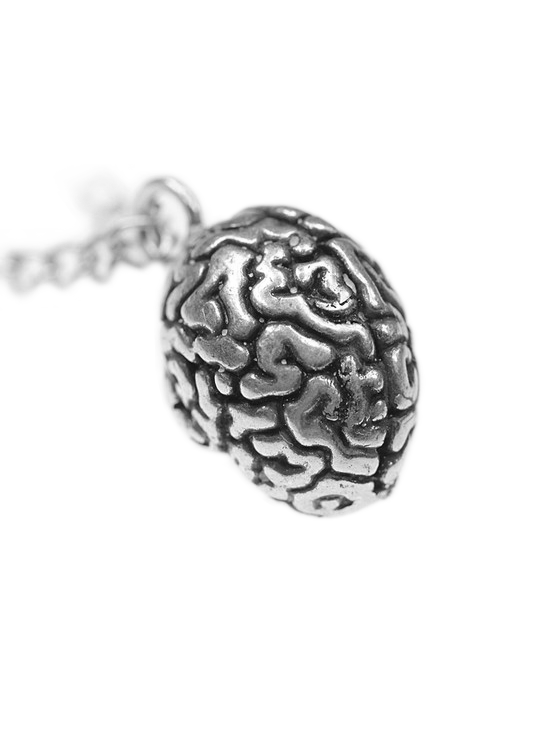 """Anatomical Brain"" Necklace by Blue Bayer Design (Silver) - InkedShop - 1"