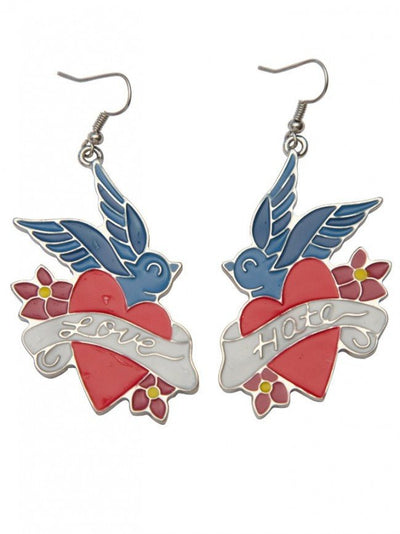 Love And Hate Earrings by Kitsch 'N' Kouture - InkedShop - 2