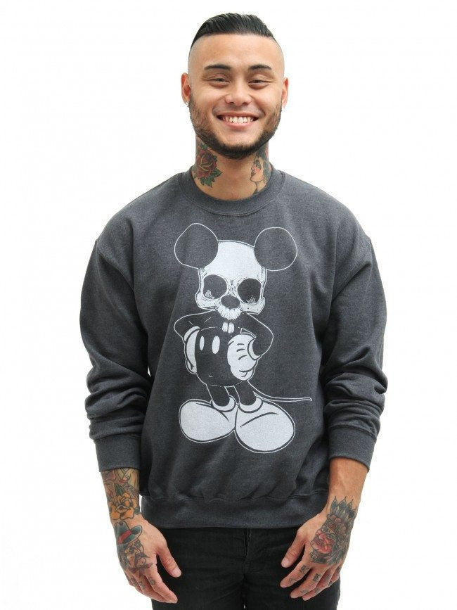 "Men's ""Micky"" Sweatshirt by Lowbrow Art Company (Grey) - InkedShop - 1"