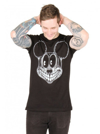 "Men's ""Spooky Mouse"" Tee by Lowbrow Art Company - InkedShop - 1"