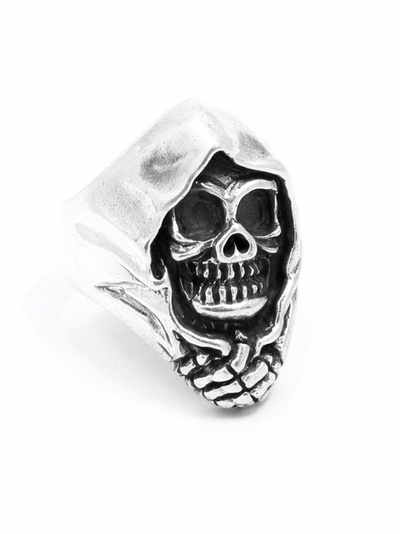 """Grim Reaper"" Ring by Billy Rebs (Silver) - InkedShop - 1"