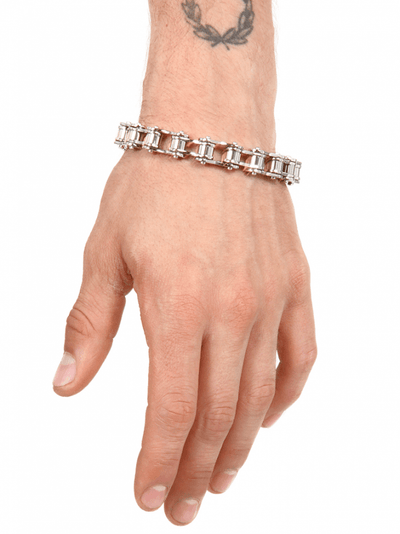 """Bicycle Chain"" Bracelet (Stainless Steel) - InkedShop - 2"