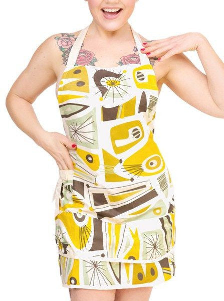"""Atomic Dreams"" Apron by Sin in Linen - www.inkedshop.com"
