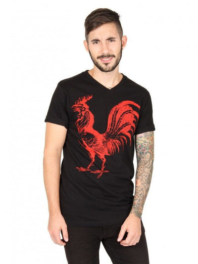 "Men's ""Rooster"" Tee by Annex Clothing (Black) - InkedShop - 2"