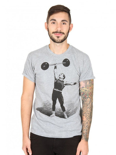 "Men's ""Strongman"" Tee by Annex Clothing (Grey) - InkedShop - 2"