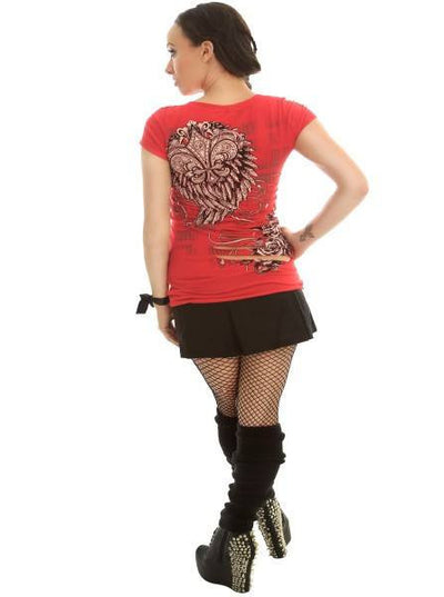 "Women's ""Cut You Up"" Top by Folter Clothing (Red) - www.inkedshop.com"