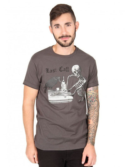 "Men's ""Last Call"" Tee by Annex Clothing (Grey) - InkedShop - 1"