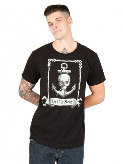 "Men's ""Deadly Seas"" Tee by Annex Clothing (Black) - InkedShop - 2"