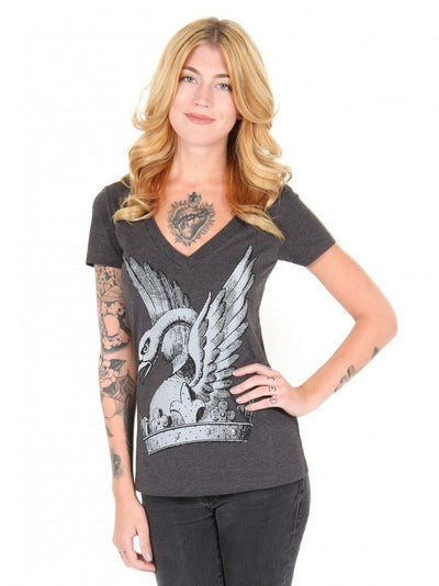 "Women's ""Goose"" Tee by Annex Clothing (Gray) - InkedShop - 1"