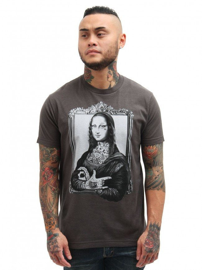 "Men's ""Mona"" Tee by Black Market Art (Charcoal) - InkedShop - 1"