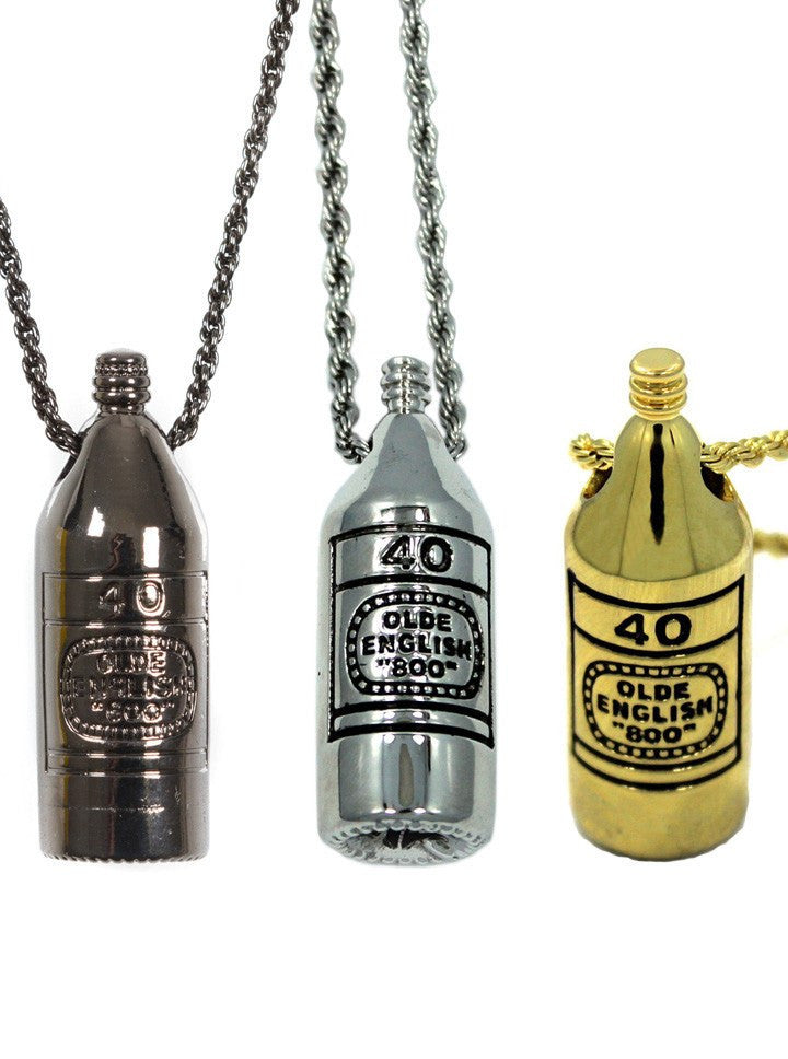 """40 OZ"" Pendant by Han Cholo (More Options) - www.inkedshop.com"