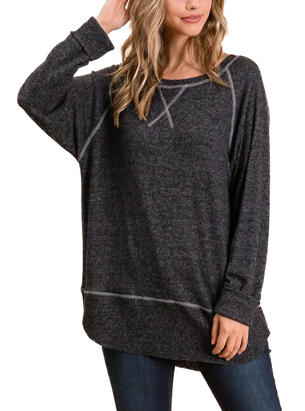 Women's Cozy Boat Neck Sweater