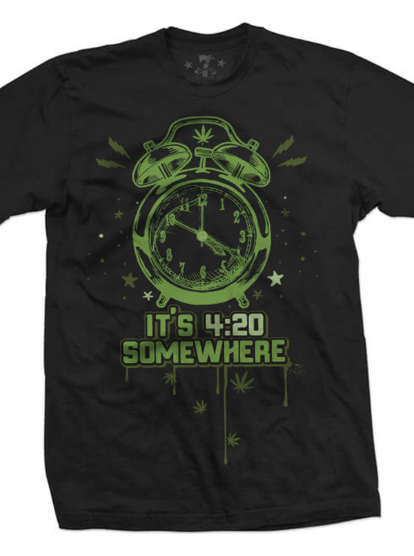 Men's 420 Somewhere Tee by 7th Revolution