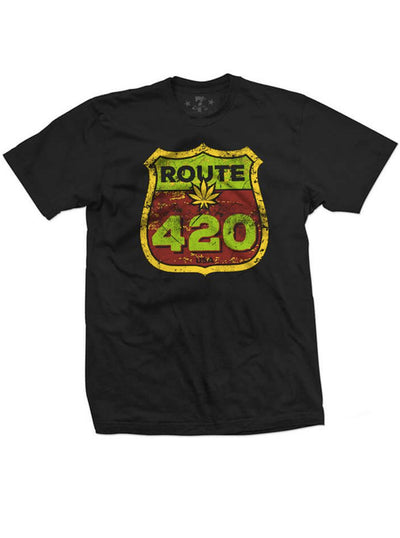 "Men's ""Route 420"" Tee by 7th Revolution (Black)"