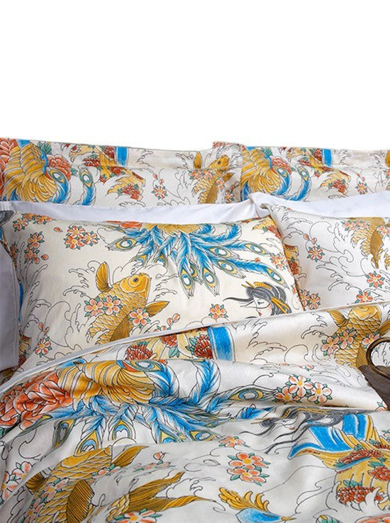 """Geisha Garden"" Duvet Covers by Sin In Linen - InkedShop - 1"