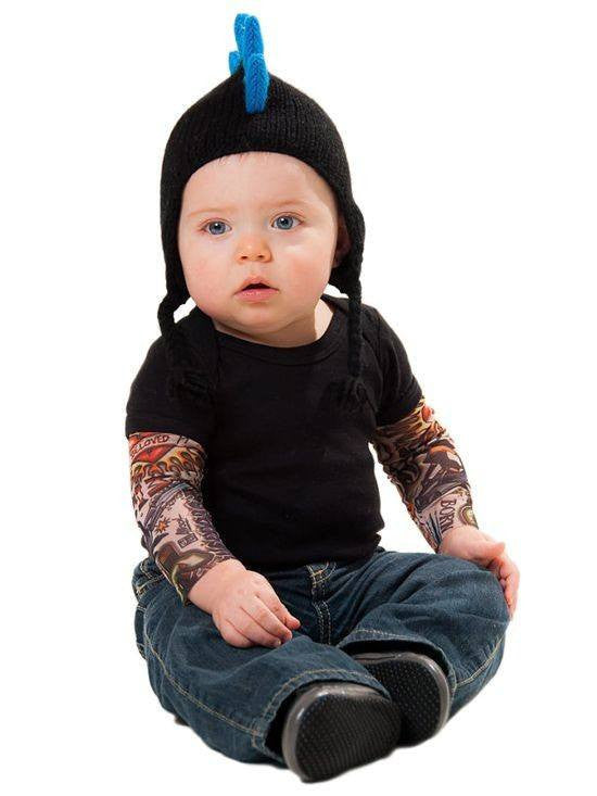 "Kids ""Tattoo Sleeve"" Tee (Black) - InkedShop - 1"