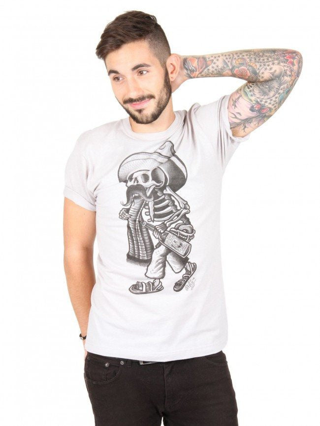 "Men's ""Borracho"" Tee by Black Market Art (White) - InkedShop - 1"