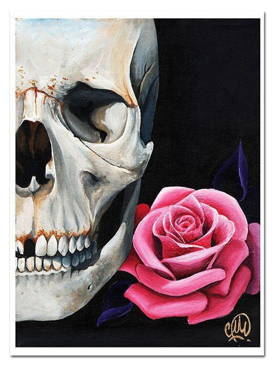 """Rose & Skull"" Art Print by Christina Ramos - InkedShop - 1"