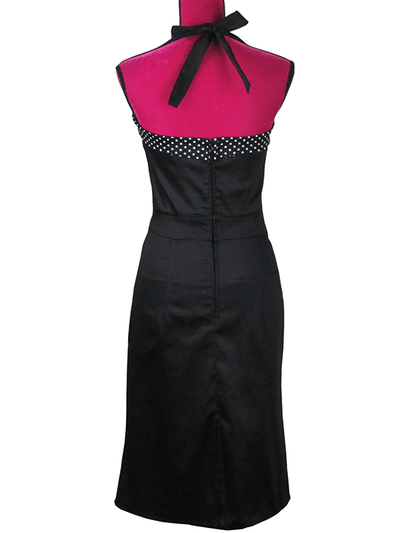 Women's Halter Dress by Pinky Pinups (Black) - www.inkedshop.com