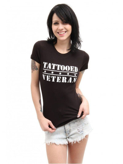 "Women's ""Tattooed Veteran"" Tee by Steadfast Brand (Black) - InkedShop - 2"