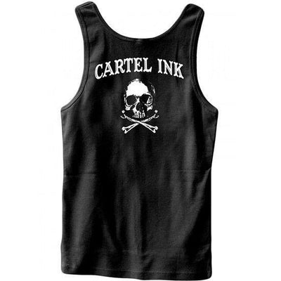 "Men's ""Tattooed for Life and Beyond"" Tank by Cartel Ink (Black) - www.inkedshop.com"