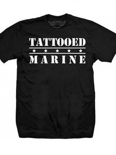 "Men's ""Tattooed Marine"" Tee by Steadfast Brand (Black) - InkedShop - 1"