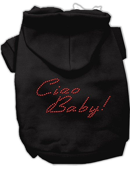 """Ciao Baby"" Rhinestone Dog Hoodie by Mirage Pet Products (More Options) - www.inkedshop.com"