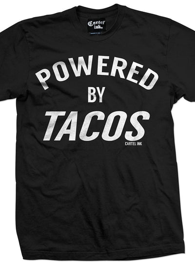 "Men's ""Powered by Tacos"" Tee by Cartel Ink (Black)"