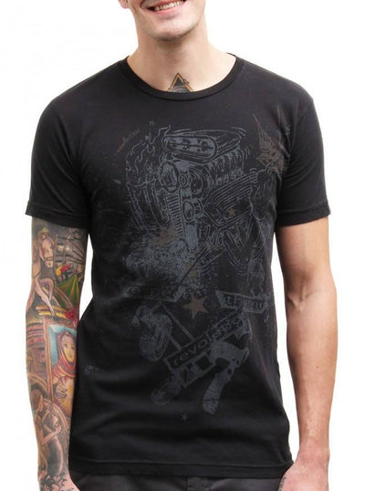 "Men's ""Block"" Tee by 7th Revolution (Black) - InkedShop - 1"