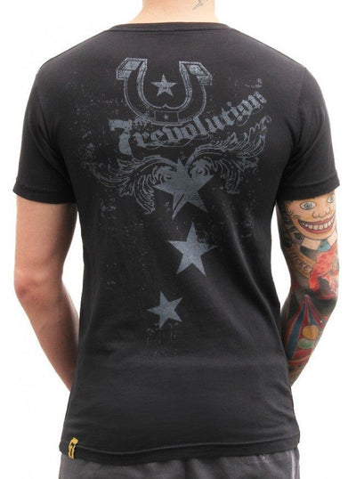"Men's ""Block"" Tee by 7th Revolution (Black) - InkedShop - 3"