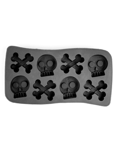Skull and Crossbones Ice Tray (Black) - InkedShop - 1