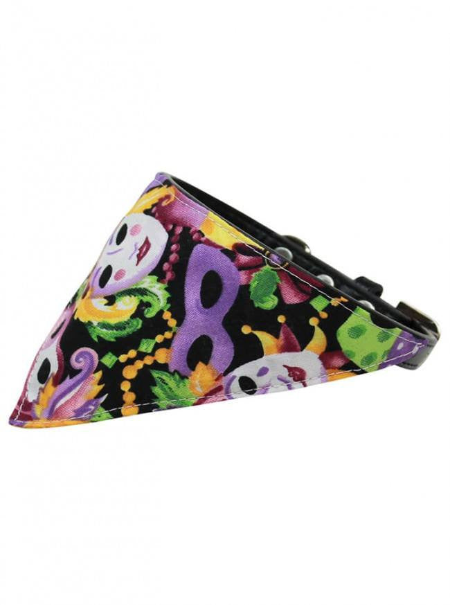 """Mardi Gras"" Bandana Pet Collar by Mirage Pet Products (Lavender) - www.inkedshop.com"