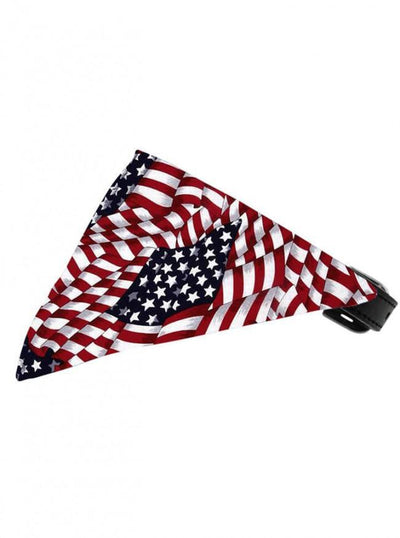 """America The Beautiful"" Bandana Pet Collar by Mirage Pet Products - www.inkedshop.com"