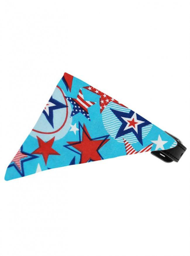 """Patriotic Star"" Bandana Pet Collar by Mirage Pet Products - www.inkedshop.com"