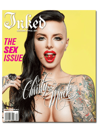 Inked Magazine: Sex Issue - Featuring Christy Mack - August 2014 - www.inkedshop.com