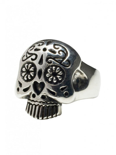"""Sugar Skull"" Ring by Femme Metale (Sterling Silver) - InkedShop - 3"