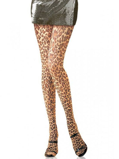 "Women's Paper Print"" Tights by Leg Avenue (Leopard) - www.inkedshop.com"