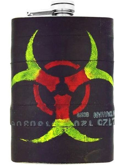 """Biohazard"" Recycled Bicycle Rubber Flask by The 3 Sisters Design Co. - www.inkedshop.com"