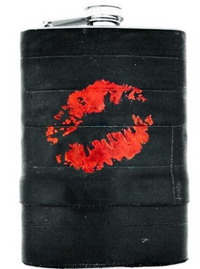 """Lips"" Recycled Bicycle Rubber Flask by The 3 Sisters Design Co. - www.inkedshop.com"